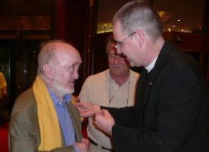 Albert Jacquard received a CLGE Pin