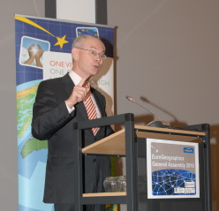 President Van Rompuy acknowledges the House of the European Surveyor and GeoInformation!